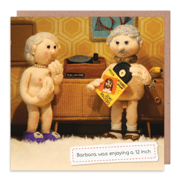 Nudinits '12-inch' Greeting Card