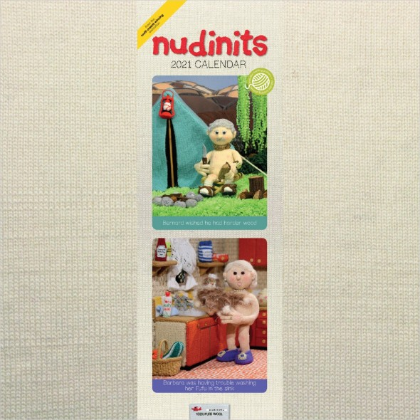 Nudinits 2021 Slim Calendar - cover