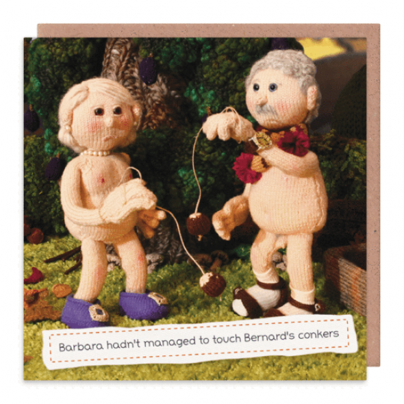 Nudinits 'Bernard's Conkers' Greeting Card