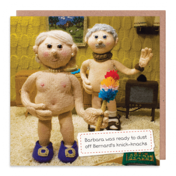 Nudinits 'Bernard's knick knacks' Greeting Card