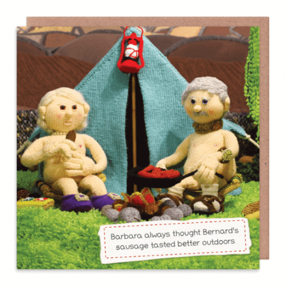 Nudinits 'Better outdoors' Greeting Card