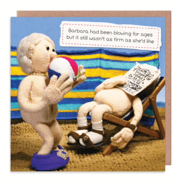 Nudinits 'Blowing for ages' Greeting Card