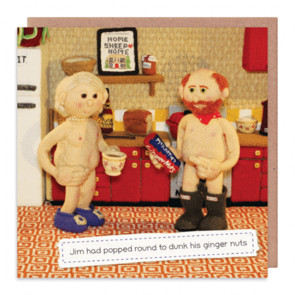 Nudinits 'Ginger Nuts' Greeting Card