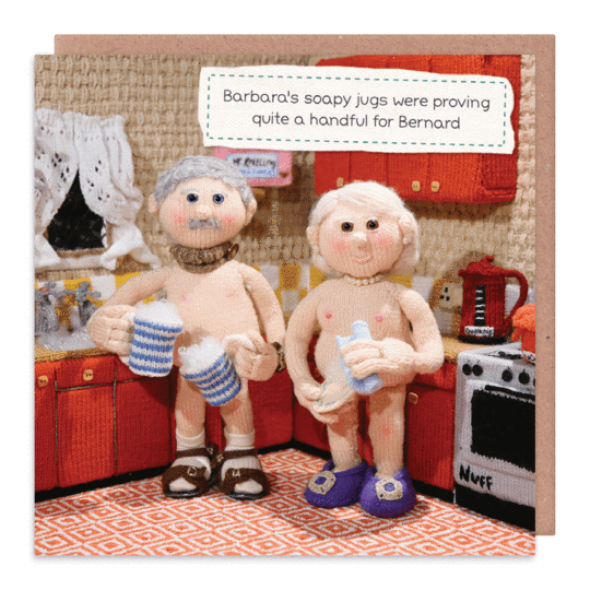 Nudinits 'Soapy Jugs' Greeting Card