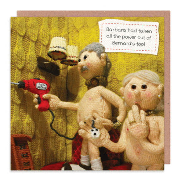 Nudinits 'Bernard's tool' Greeting Card