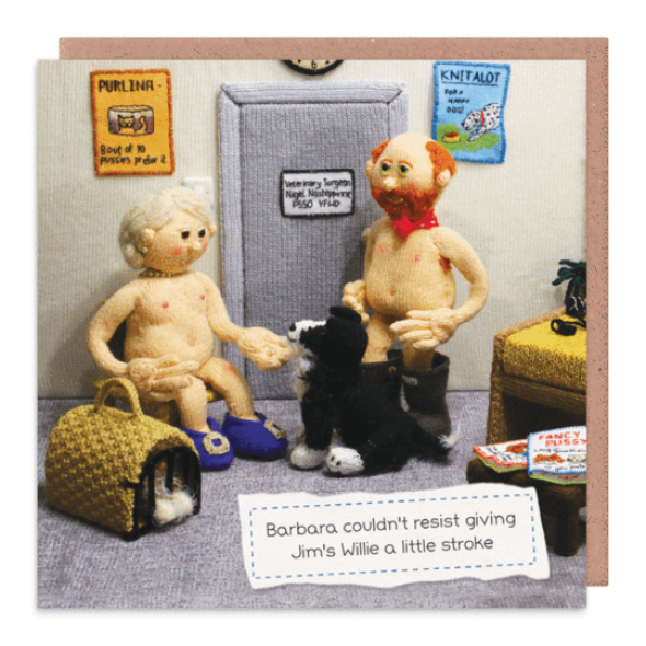 Nudinits 'Couldn't resist' Greeting Card