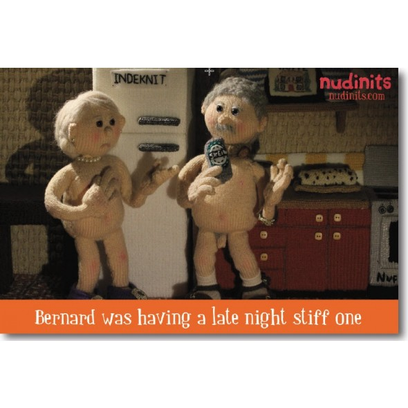 Nudinits 'Stiff One' Fridge Magnet