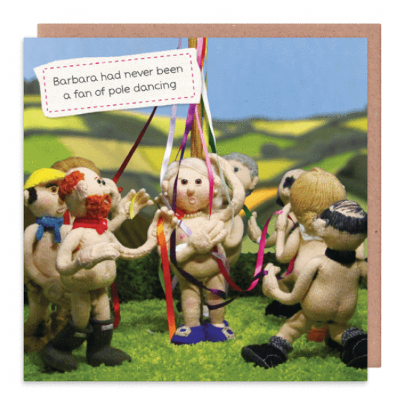Nudinits 'Pole Dancing' Greeting Card