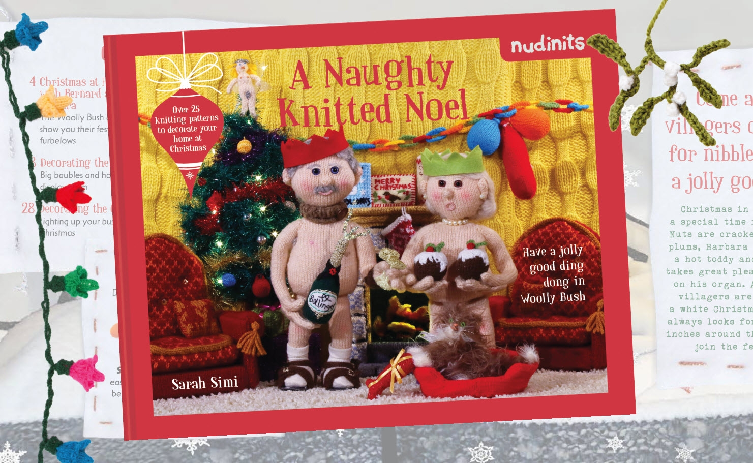 nudinits - a naughty knitted noel - book